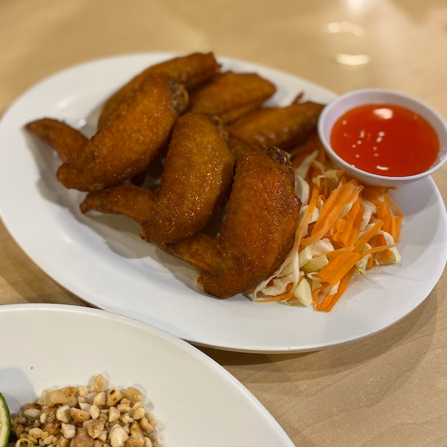 Deep Fried Chicken Wings With Thai Sauce (RM16)