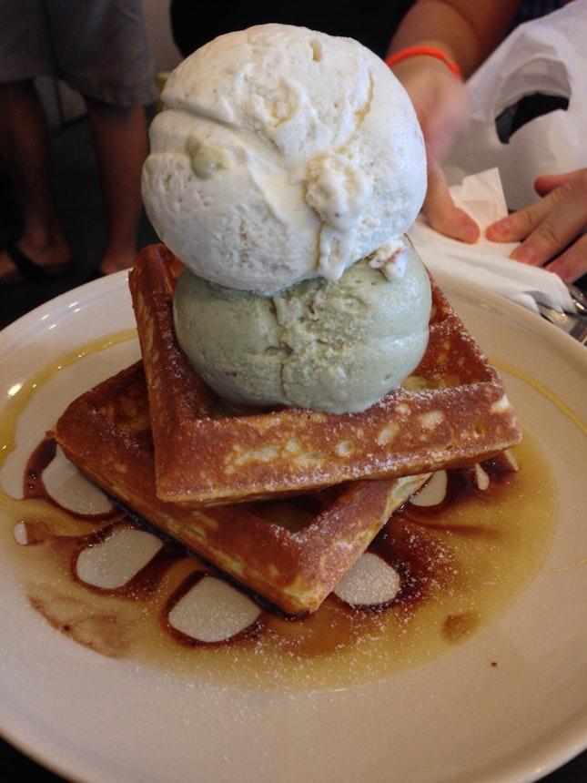 Ice Cream Waffles!