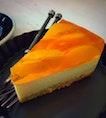 Peach Jelly Tofu Cheesecake