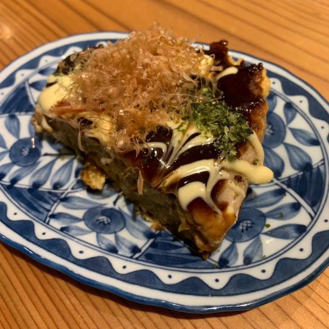 Cheese 🧀 and Rice Cake Okonomiyaki