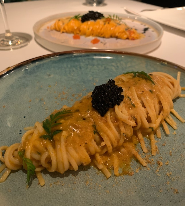"Artisanal ""Giuseppe Cocco"" Linguine | Hokkaido Sea Urchin Sardinian Bottarga | Amalfi Lemon"