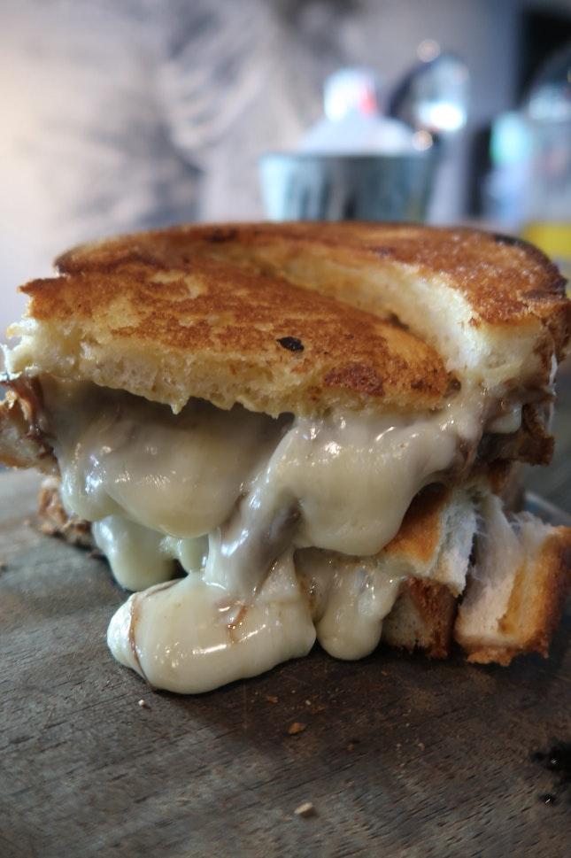 Sensational Short-rib grilled cheese ($16)