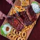 🍖: Baby Ribs Platter ($69+) If you're a fan of ribs, you'd certainly be pleased with the price and the 3 different varieties of flavourful ribs at @tobys_the_dessert_asylum!