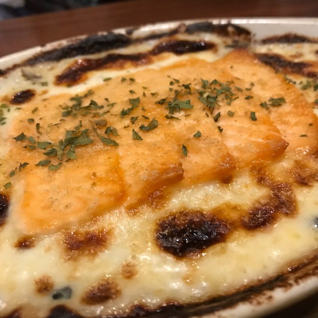 Baked Rice With Salmon
