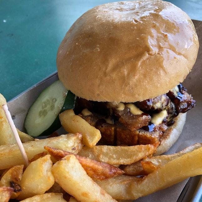 Crispy Pork Belly Burger ($5.50)