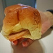 Review on Luncheon Meat Bun Aka Hanbaobao ($1) From Stall 46, Serangoon Garden Bakery & Confectionery