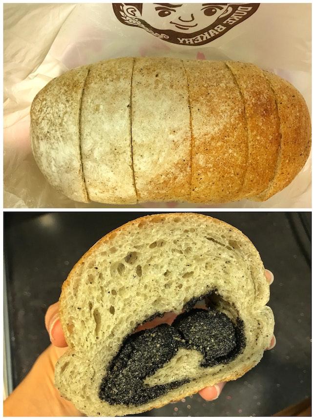 Review on (Black) Sesame Bread ($4.90)