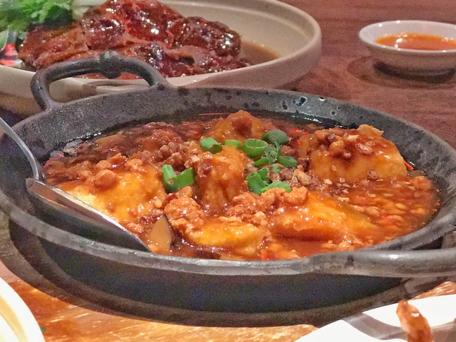Hotplate Beancurd with Minced Meat & Pickled Vegetables