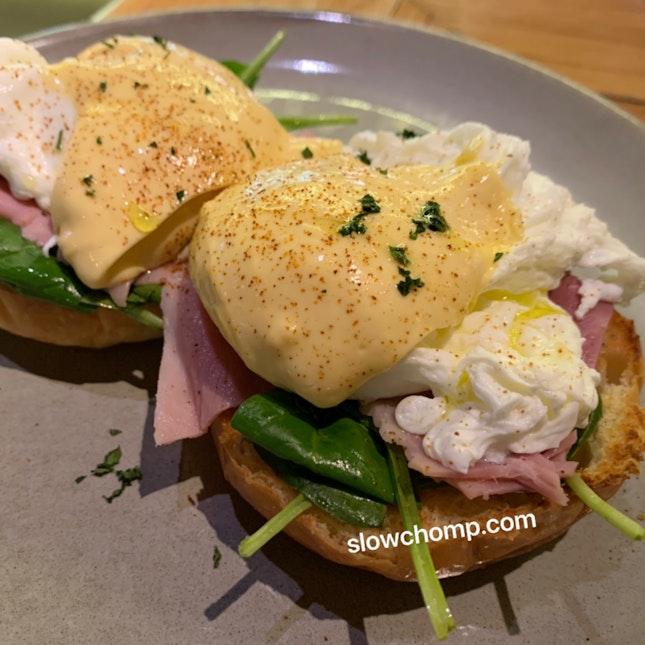 Eggs Benedict, $19.50++