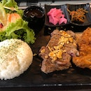 Grilled Steak And Pork Katsu