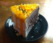 Salted Egg Black Sesame Cake