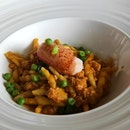 Riccioli Pasta With Lobster Bolognese, Sweet Peas & Smoked Paprika