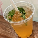 Yuzu With Mint Leaves