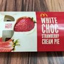 White Choc Strawberry Cream Pie