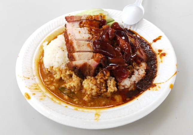 Roast Meat & Char Siew Rice With Curry