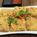 Fried Shrimp Pancake With Radish