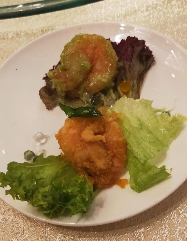 Fried Prawns In Two Styles