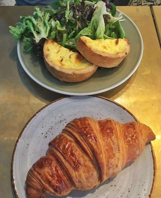 Original Croissant ($3.2) + Quiche With Salad ($11+)