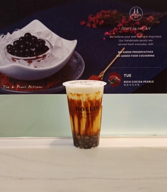 Brown Sugar Fresh Milk With Honey White Pearl $3.90