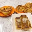Coconut tarts, Baked BBQ pork puff & 菠萝流沙包