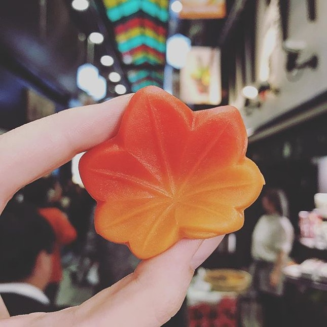 Wagashi is the Japanese word for Japanese sweets made that are eaten with tea (with yagashi being the word for western style chocolate and candies etc.).