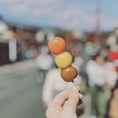 Most people are familiar with dango, whether they know it or not from the emoji: 🍡 You would be forgiven for thinking they only came in the classic pink, yellow, green colours, however vendors across Japan sell an astounding array of different flavours, savoury and sweet as well as colours.