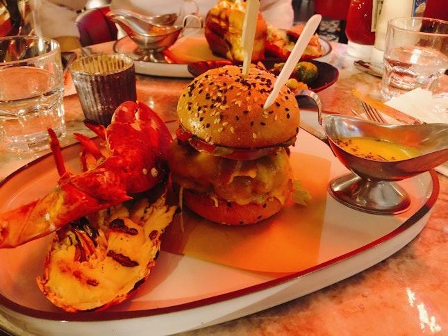 Half Lobster And Burger Set