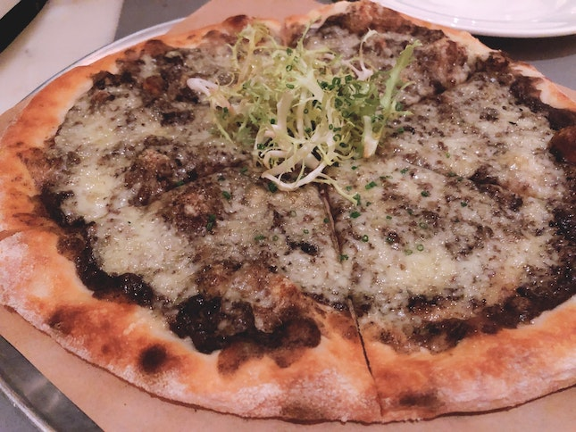 Black Truffle And Fontina Cheese Pizza