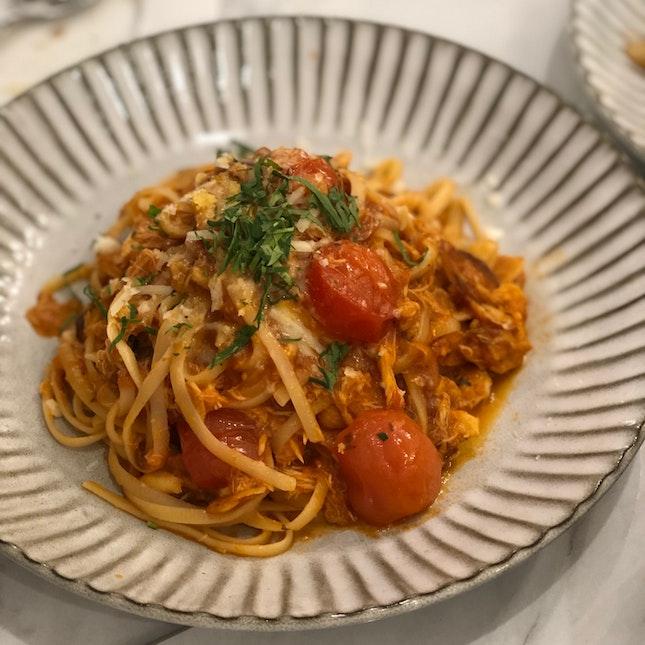 Crab Meat Pasta ($25)