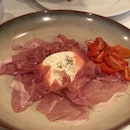Burratina Cheese, Parma Ham and Italian Tomatoes ($32)