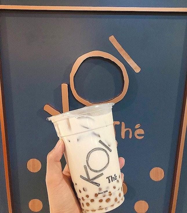Singapore food hunt 📌 [Paya Lebar, Singapore 🇸🇬]👇🏻#oneadayinSG———————————————✔️ Milk Tea with Pearls, S$3.50.
