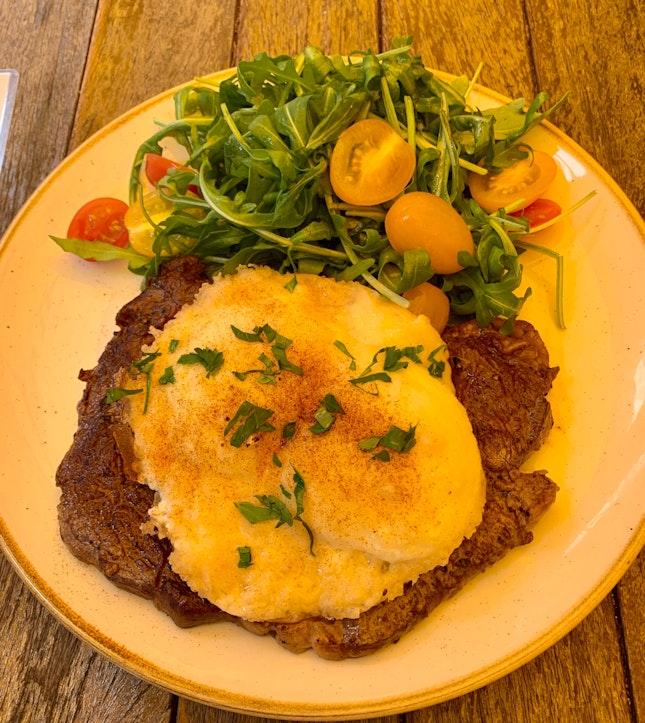Ribeye Steak & Eggs (with Cheese)