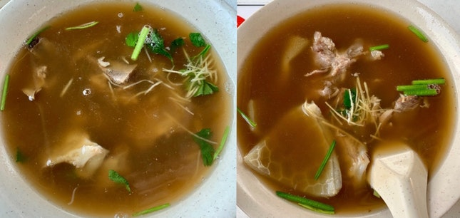 Lamb Meat & Tendon Soup