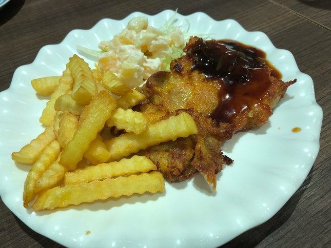 Chicken Chop With Fries ($9.80)