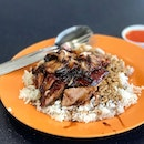 Delicious plate of char siew and roast duck rice at Taman Jurong!