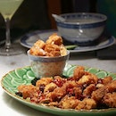 Sichuan spiced chicken with fritters?