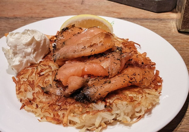 Rosti With Gravlax Salmon