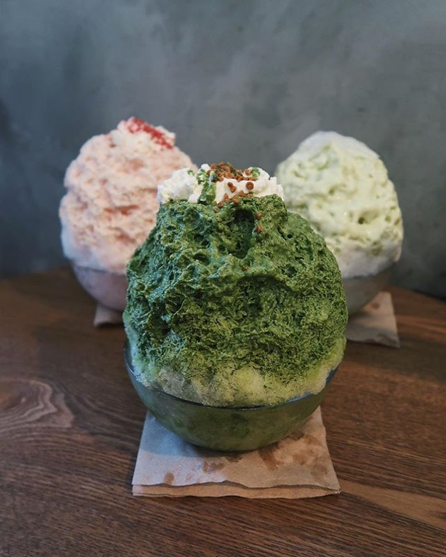 Kakigori aka Japanese shaved ice with syrup or milk drizzled atop, has made its way to Hong Kong.
