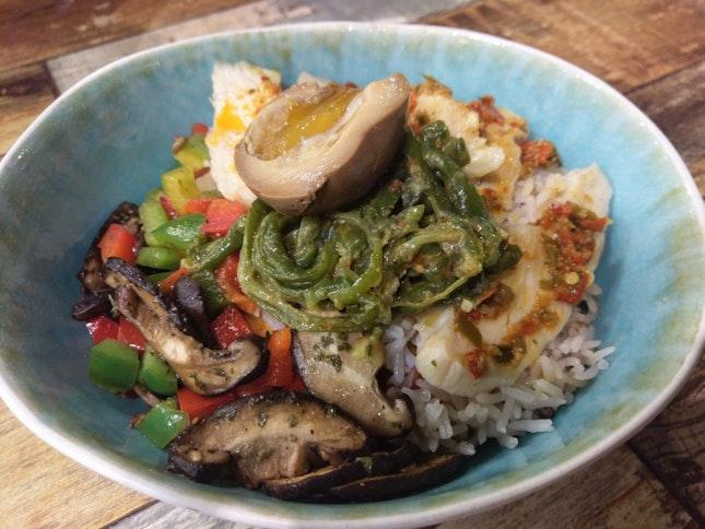 Mala chicken breast rice