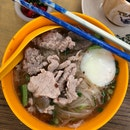 The famous pork noodle