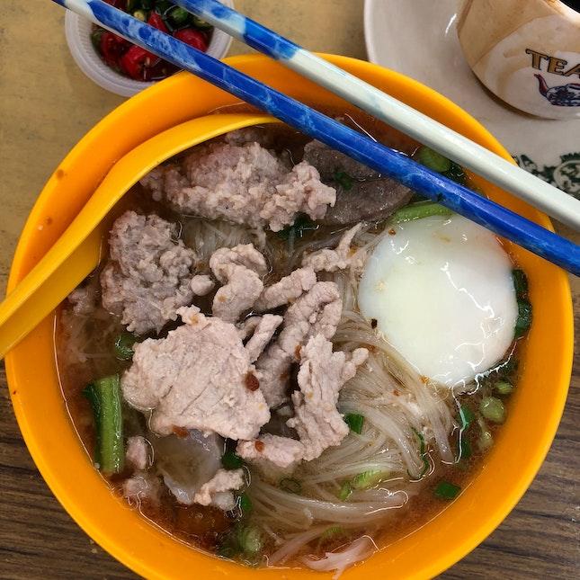 The famous pork noodle