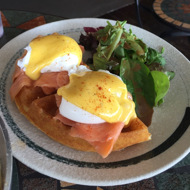 Egg Benedicts with Waffles