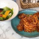 Beef Meatballs Pasta in Tomato sauce (Set Lunch From $9.90 onwards)