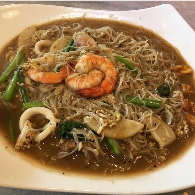 Seafood White Beehoon in Bak Kut Teh Soup $9.90++