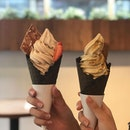 Still honestly the best soft serves I've come across😍😍 - - - Though the place only serves up 4 different standard flavours of soft serve, we still needed to deliberate as they all looked so good!!