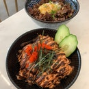 salmon mentaiko bowl [S; $17.90]