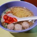 Minced Meat Noodles Soup