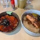 Salmon Chirashi & Salmon Teriyaki Don