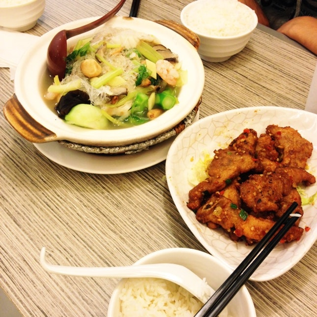 Seafood Pot And Pork Cutlet