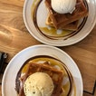 waffles with sea salt gula melaka ice cream ~$10